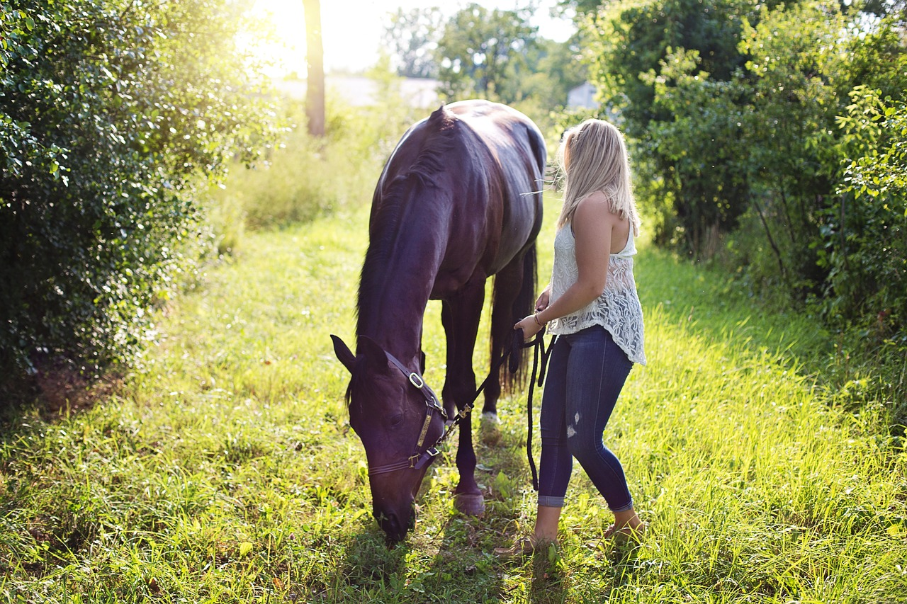 woman with horse 2631162 1280
